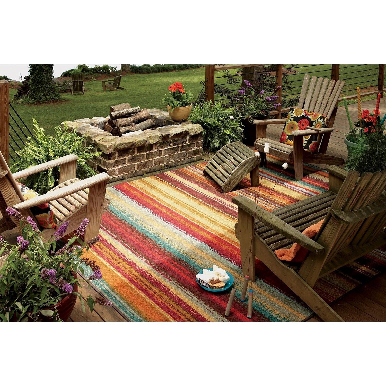Beau Mohawk Home Printed Outdoor Multicolor Rug   5u0027 ...