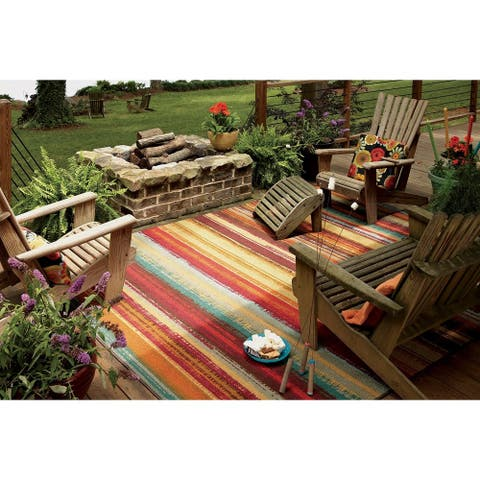 Mohawk Printed Outdoor Multicolor Area Rug