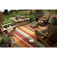 Indoor/Outdoor Metro Stripe Rug (8' x 10') - 7'6 x 10'