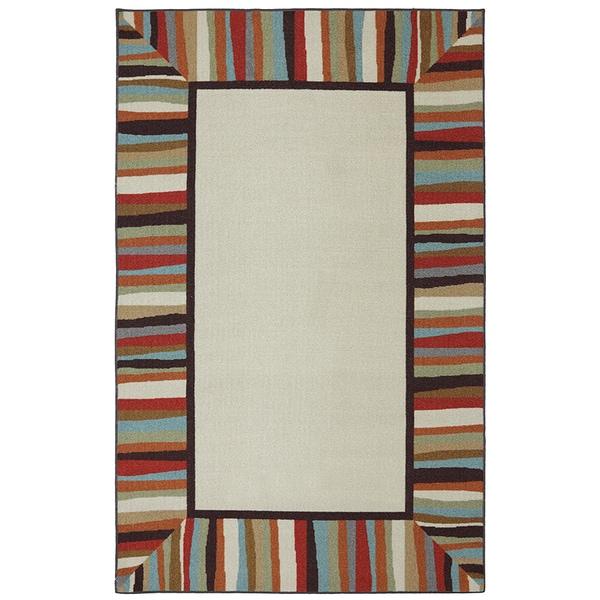 Mohawk Home Printed Indoor/ Outdoor Patio Border Rainbow (7'6 x 10)