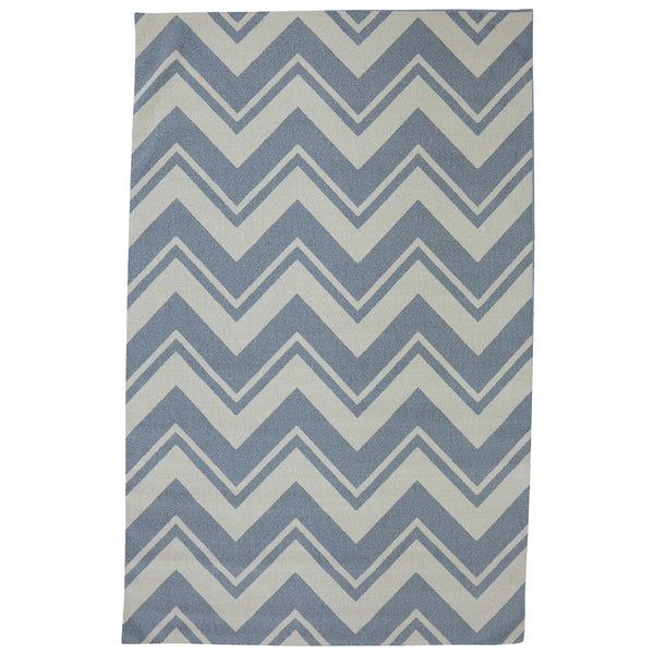 Mohawk Home Printed Indoor/ Outdoor Pool Zig Zag Blue (5' x 8')