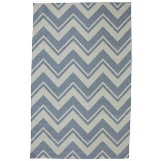 Mohawk Home Printed Indoor/ Outdoor Pool Zig Zag Blue (7'6 x 10)