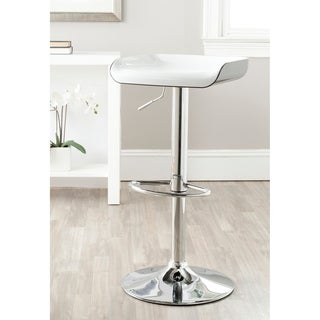 Safavieh Rameka White/Black Adjustable 24-32-inch Bar Stool
