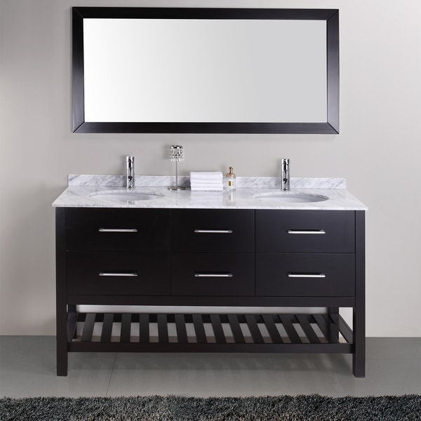 Shop Valentina 59 Inch Double Sink Vanity Set Free Shipping Today 7894298