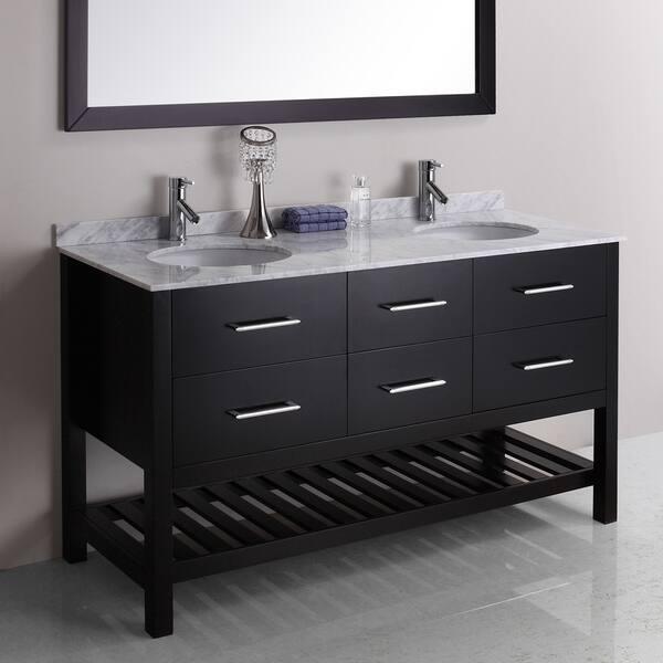Valentina 59 Inch Double Sink Vanity Set Overstock 7894298