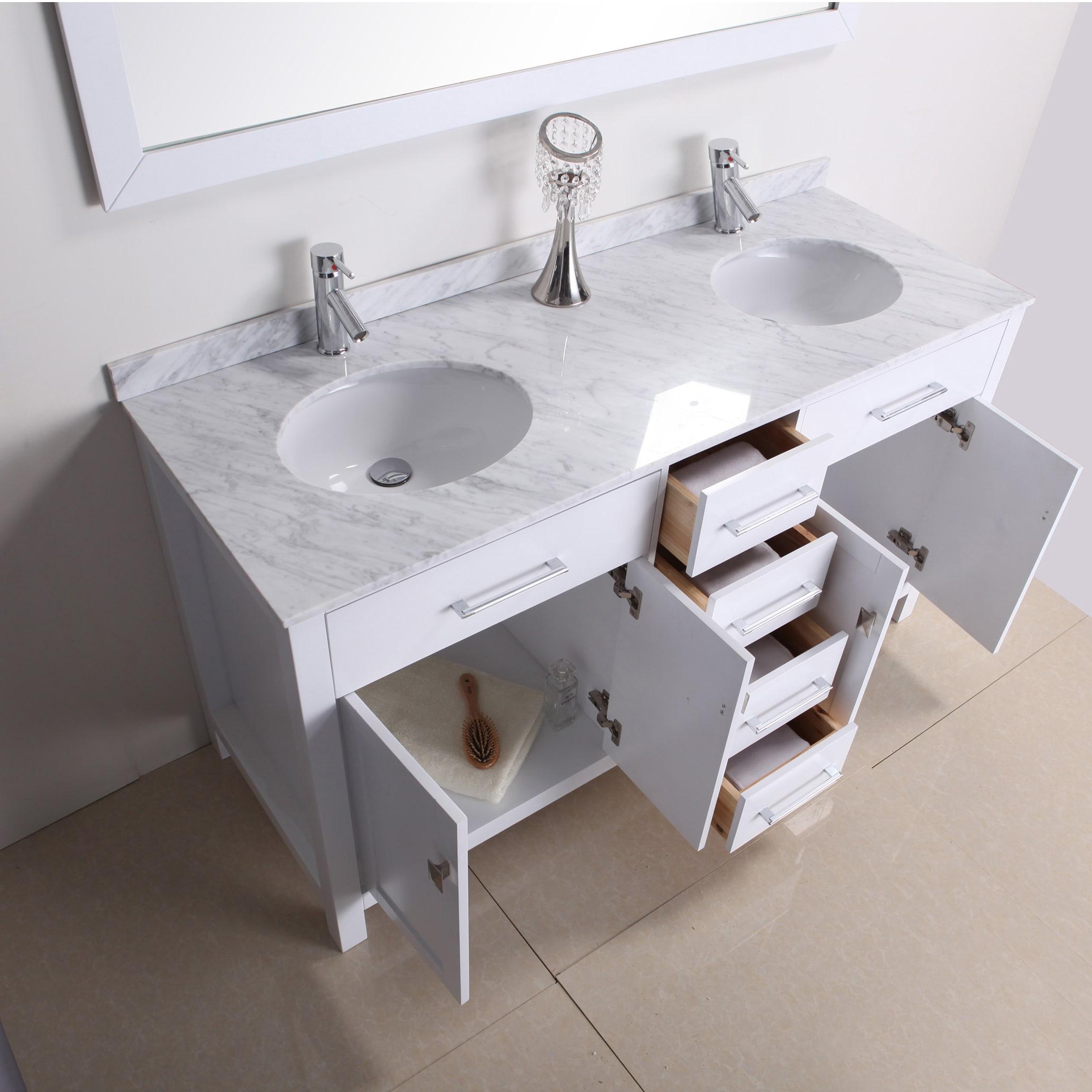 Kayleigh 60 Inch Double Sink Vanity Set Overstock 7894304