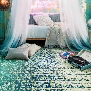 Skye Monet Blue Cascade Rug (3'9 x 5'2)