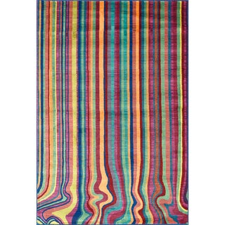 Skye Monet Multi Stripe Rug (3'9 x 5'2)