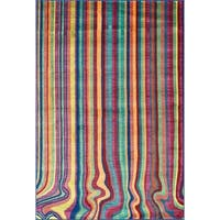 Skye Monet Multi Stripe Area Rug - 3'9 x 5'2