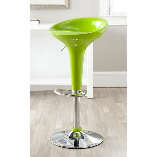 "Safavieh Sacha Green Adjustable 24-32-inch Bar Stool - 17.8"" x 15.8"" x 26"""