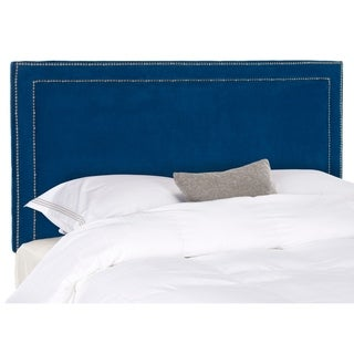 Safavieh Cory Royal Blue Velvet Upholstered - Silver Nailhead (Full)