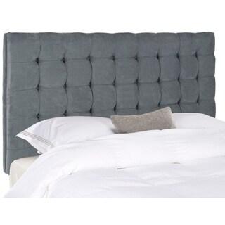 Safavieh Lamar Steel Blue Velvet Upholstered Tufted Headboard