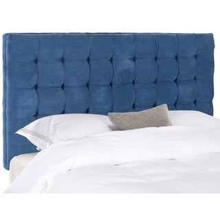 Safavieh Lamar Royal Blue Velvet Upholstered Tufted Headboard