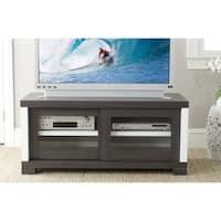 Safavieh Davis Storage Contemporary Dark Grey Sliding Door TV Cabinet