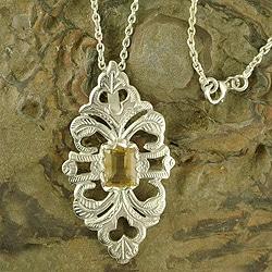 Handmade Sterling Silver 'Sunshine' Citrine Necklace (India)