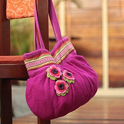 Alpaca Blend 'Blushing Pink' Shoulder Bag (Peru)