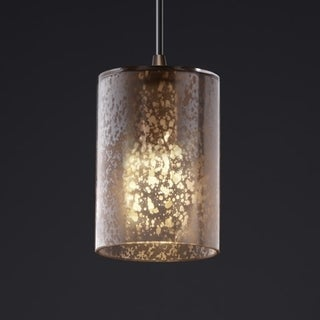 Justice Design Group Dark Bronze 1-light Flat Rim Cylinder Mini Pendant