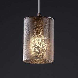 Justice Design Group Dark Bronze 1-light Flat Rim Cylinder Mini Pendant
