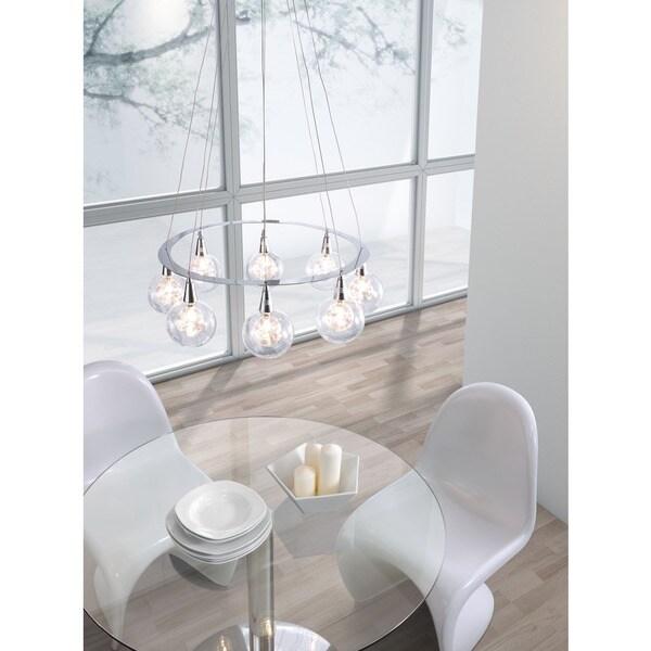 Chrome Radial Ceiling Lamp