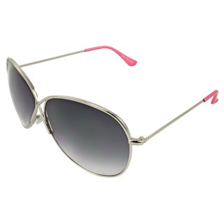 Apopo Eyewear Women's Silver and Pink Butterfly Sunglasses