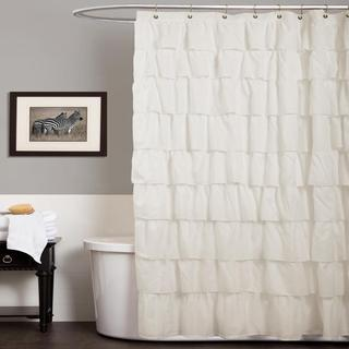 Lush Decor Ruffle Ivory Shower Curtain