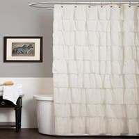Lush Decor Ivory 84 Inch Ruffle Curtain Panel Free