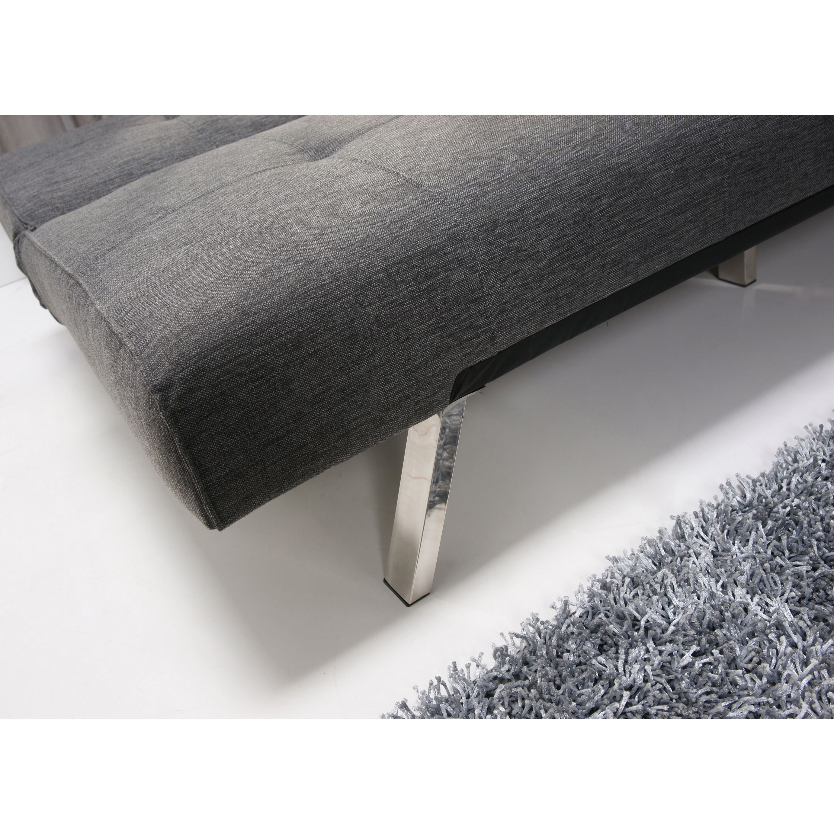 Marvelous Jacksonville Gray Fabric Futon Sleeper Sofa Bed Spiritservingveterans Wood Chair Design Ideas Spiritservingveteransorg