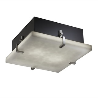 Justice Design Group Clouds Clips 2-light Brushed Nickel Flush Mount