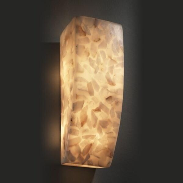 Justice Design Group Rectangle 1-light Alabaster Rocks Wall Sconce