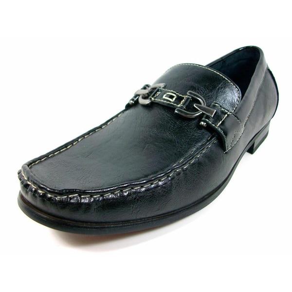 Ferro Aldo Men's Buckle Front Loafers