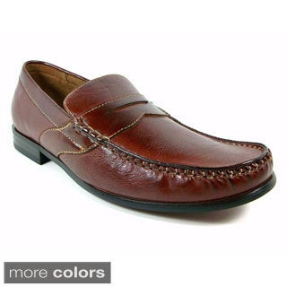 Ferro Aldo Men's Vegan Leather Penny Loafers