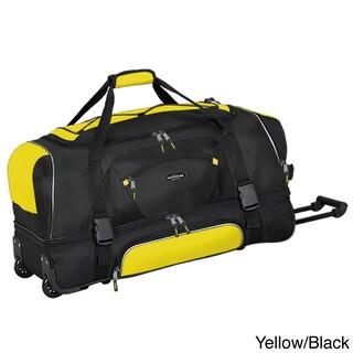 Traveler's Club Adventurer Duffel Collection 36-inch 2-section Drop Bottom Rolling Duffel (Option: Yellow/black)