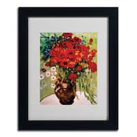 Vincent van Gogh 'Daisies and Poppiest' Framed Matted Art - Multi