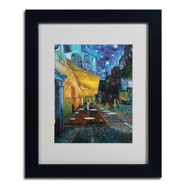 Vincent van Gogh 'Cafe Terrace' Framed Matted Art - Multi