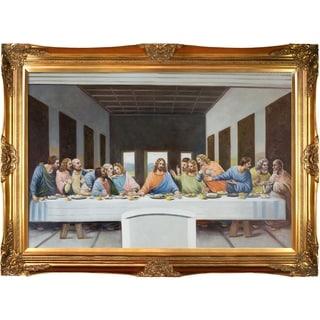 Leonardo Da Vinci 'The Last Supper' Hand Painted Framed Canvas Art