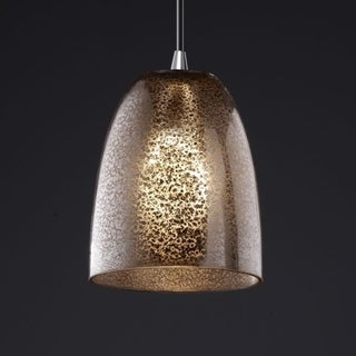 Justice Design Group Polished Chrome 1-light Small Tapered Cylinder Mini Pendant