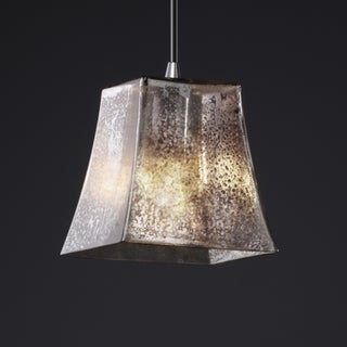 Justice Design Group Polished Chrome 1-light Square Flared Mini Pendant