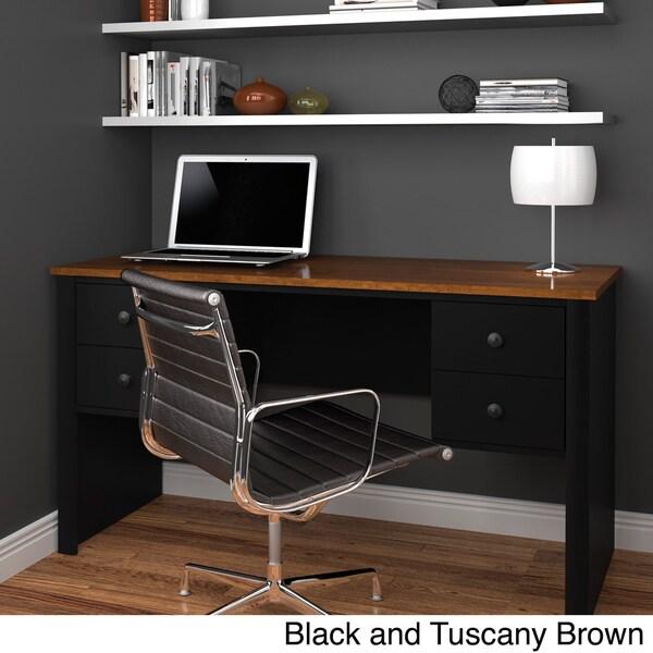 Bestar Somerville Executive Desk with 2 Pedestals