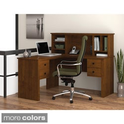 Bestar Somerville L-Shaped Desk with Hutch