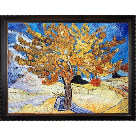 Vincent Van Gogh 'The Mulberry Tree' Hand Painted Framed Canvas Art