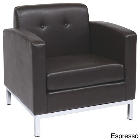 OSP Home Furnishings Wall Street Faux Leather Club Chair