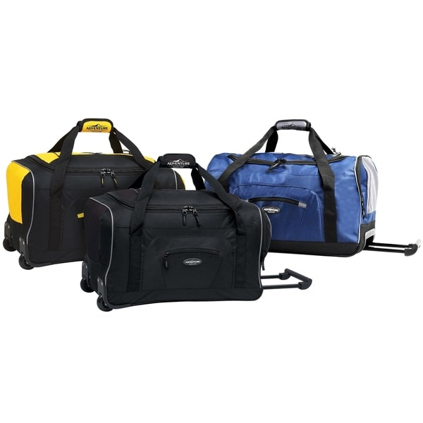 Traveler  x27 s Club Adventurer Collection 22-inch Carry On Rolling Upright  Duffel d4819f4306