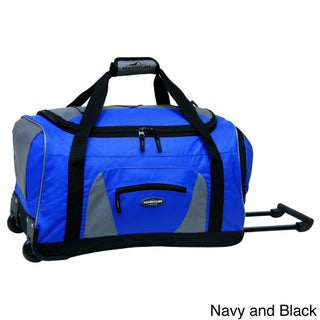Traveler's Club Adventurer Collection 22-inch Carry On Rolling Upright Duffel Bag