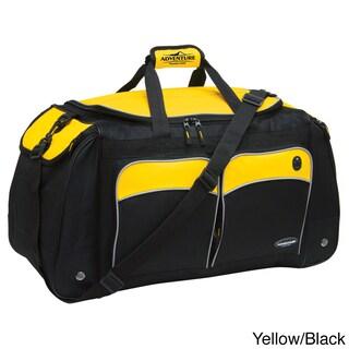Traveler's Club Adventurer 28-inch Multi-Pocket Duffle Bag (Option: Yellow)
