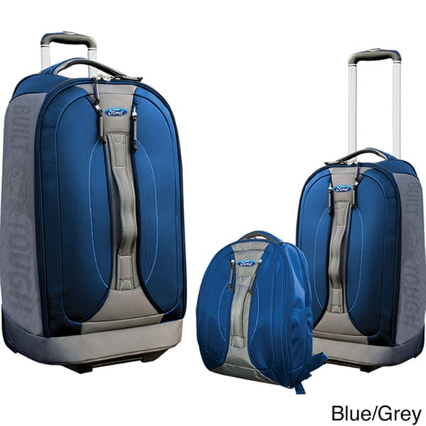 Traveler's Club Ford Fusion Series 3-Piece Rolling Casual Luggage Set