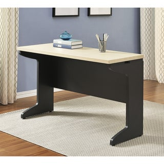 Ameriwood Home Benjamin Grey/ Natural Desk Bridge