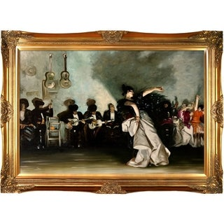 John Singer Sargent 'El Jaleo' Hand Painted Framed Canvas Art