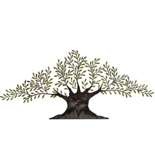 Casa Cortes Tree of Peace Large 94-Inch Metal Wall Art Decor