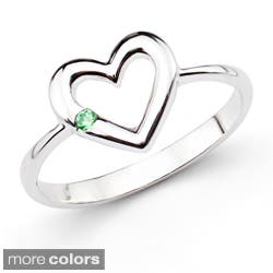 Sterling Silver Round Gemstone Open Heart Ring|https://ak1.ostkcdn.com/images/products/7894957/Sterling-Silver-Gemstone-Open-Heart-Ring-P15275853A.jpg?impolicy=medium
