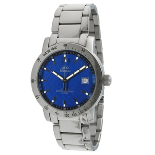 Gino Franco Men's Blue Carbon Fiber Dial Watch